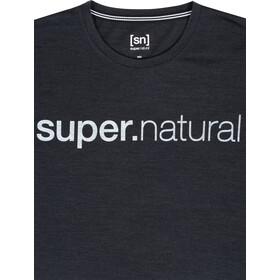 super.natural Signature Tee Men, jet black melange/fresh white